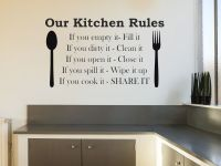 Our Kitchen Rules Wall Art Sticker Wall Art Sticker Decal